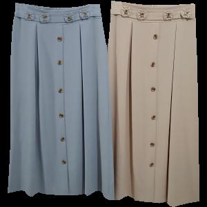 חצאית כפתורים מקסי