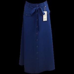 חצאית כפתורים עם כיסים מקסי