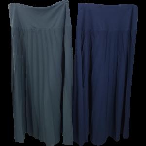 חצאית תיפורים גסקה רחבה מקסי עם ביטנה