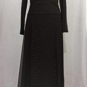 חצאית טול שחורה שבע שמיניות