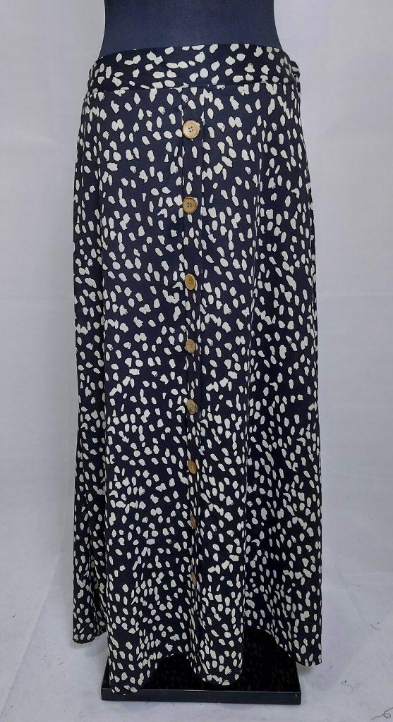 חצאית כפתורים כפרית